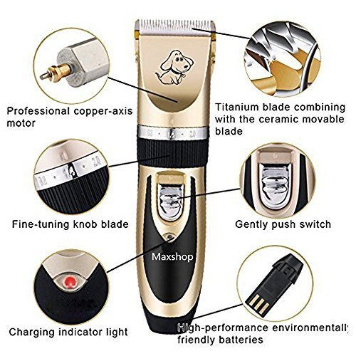 Maxshop Low Noise Rechargeable Grooming Trimming Kit