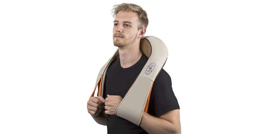Shoulder massager with heat benefits